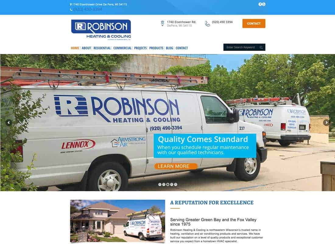 Read more about the article Robinson Heating & Cooling revises its website for easy viewing